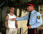Very tattooed criminal gets punished by a hung cop