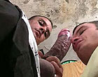 Leo sucks and gets drilled with a monster fat cock