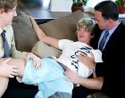 Two hot twinks in a threesome with an older mentor
