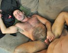 Beautiful hairy man getting a huge cock in the ass