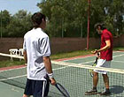 Sporty tennis players ass fuck instead of the game