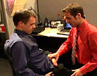 A new employee in red shirt screwed by his boss