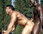 Huge musclar gay black dude fucking his friend