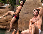 Diego, Dante and Derek in a 3 way by a waterfall