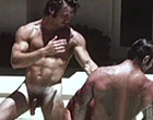 Three horny gays having sexy fun with their cocks in a