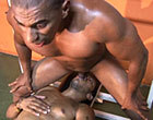 Two horny muscular latin guys hard suck and fuck