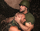 Muscle gay soldiers sucking rock hard cocks off