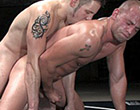 Patrick and Wolf body slam, then slam cock and ass