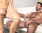 Muscular hairy man suck and fuck his happy friend