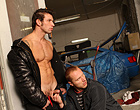 Hunky stud gets fucked raw at the local garage