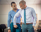 Damien Crosse and Juan Lopez fuck in the office