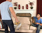 A married man fucks his hunky neighbor on a sofa