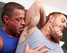 Gay rubber fucking a client in his awesome ass