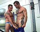 Rocco Banks takes a giant dick up the muscle ass!