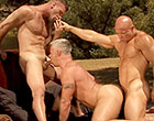 Amazing 3some with gays in heat sucking & fucking