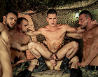A bunch of muscle gay soldiers have a wild orgy