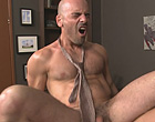 The boss getting his ass abused by a muscle stud