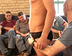 Stripped naked in front of lecherous old gay men
