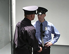 The two horny uniformed gay cops decided to fuck