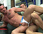 Very muscle Dany getting fucked with a hammer cock