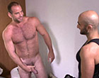 Horny muscular dude tempted and fucking his friend
